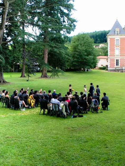 Ceremonie parc du chateau