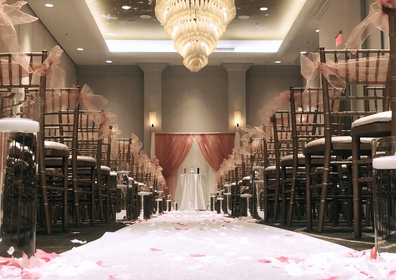 Dusty Rose Wedding Aisle