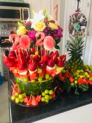Graduation Fruit Display