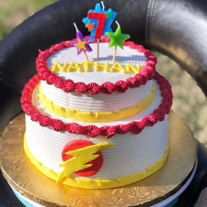 Lightning Birthday Cake