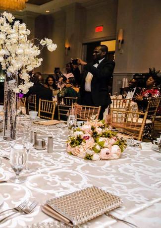 Elegant Peach Wedding Reception