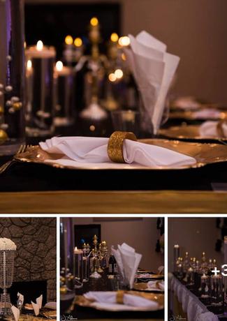 Elegant Night Table Setting
