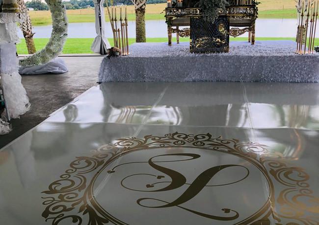 Golden Wedding Dance Floor Decal