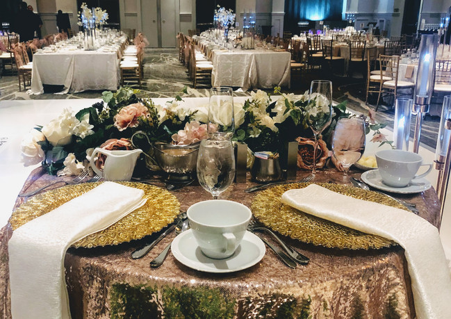 Dusty Rose Wedding Table Setting