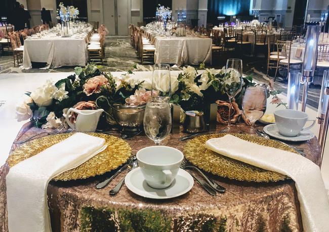 Dusty Rose Wedding Table Setting