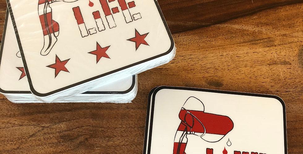 HoodLife DC Sticker