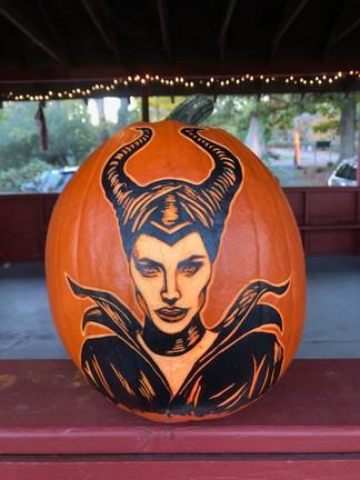 Maleficent Pumpkin Carving