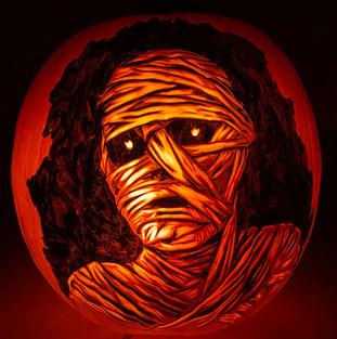 Mummy Pumpkin Carving