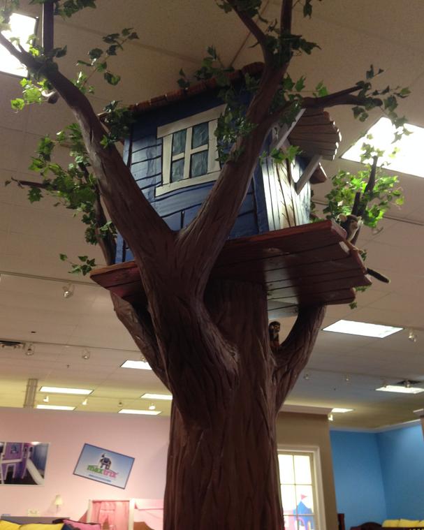 Giant Blue Treehouse