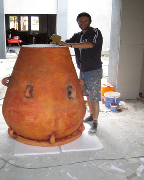 """Giant """"Ceramic"""" Vase"""