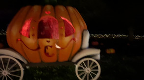 Cinderella Pumpkin Coach at Night