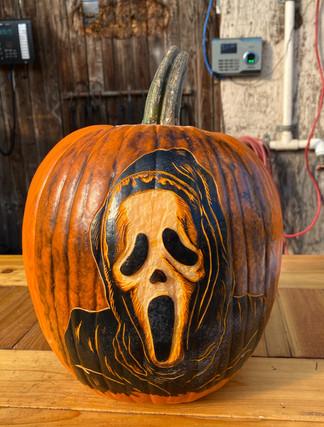 Ghost Skull Pumpkin Carving