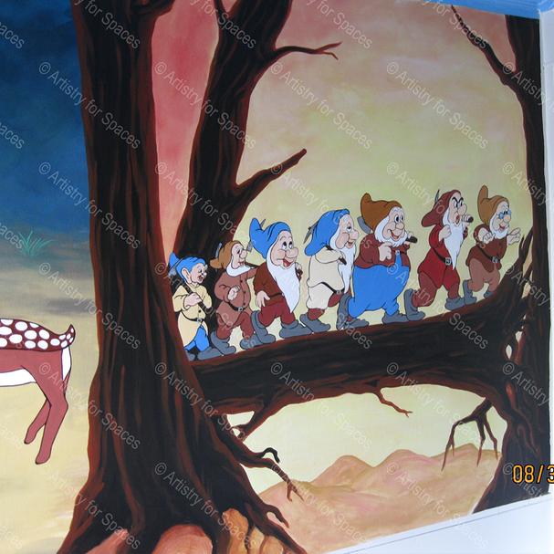"Snow White ""Surround"" Mural"
