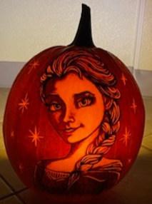 Elsa from Frozen Pumpkin Carving