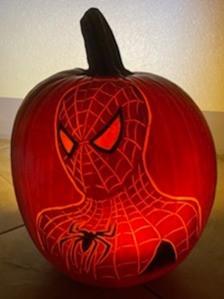 Spiderman Pumpkin Carving