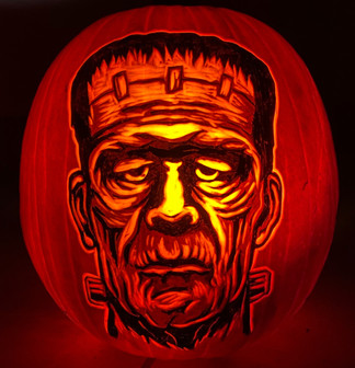 Frankenstein Pumpkin Carving