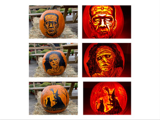 Classic Halloween Characters Pumpkin Carving