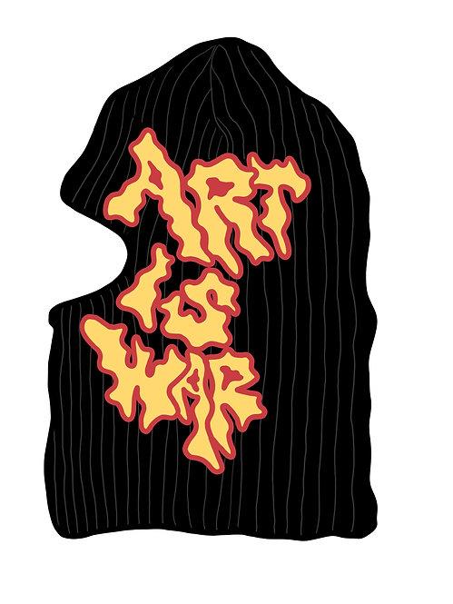 ART IS WAR BALACLAVA MASK.