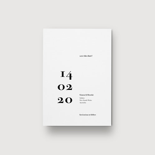 Classic Minimalist - Save The Date