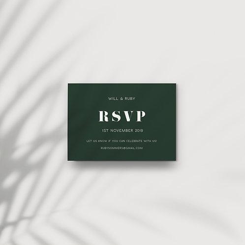 Bold Tropics - RSVP Card