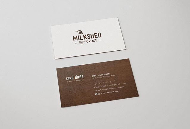 Business cards for @themilkshednz 🐄 . .