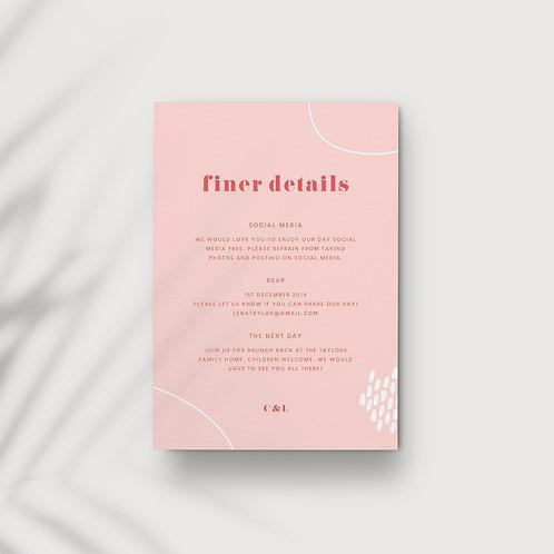 Tutti Frutti - Information Card