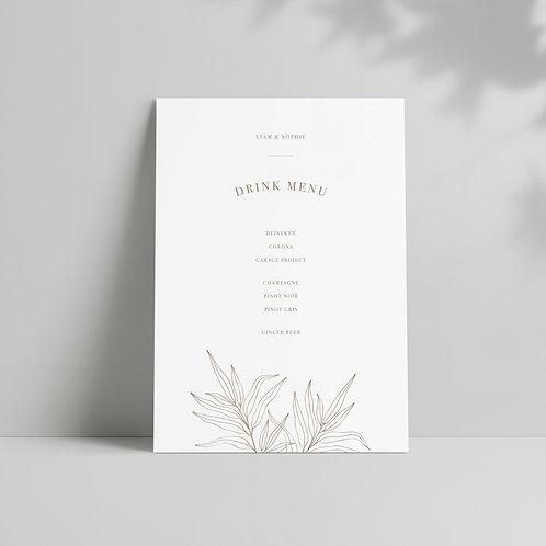 Botanical - Bar Menu