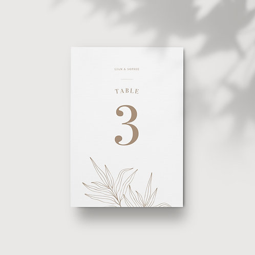 Botanical - Table Numbers