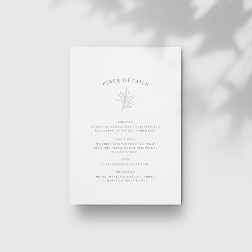 Botanical - Information Card