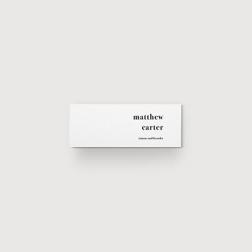 Classic Minimalist - Place Card
