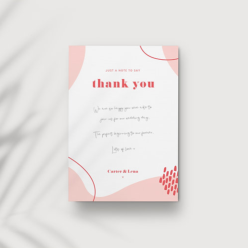 Tutti Frutti - Thank You Card