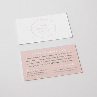 Appointment & Refer Cards for @the.beaut