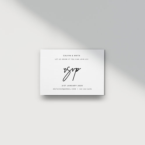 Modern Minimalist - RSVP Card