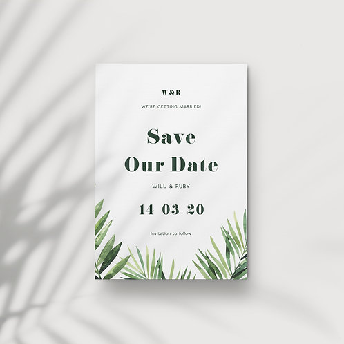 Bold Tropics - Save Our Date