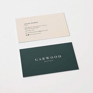 Business card design for @garwoodboutiqu