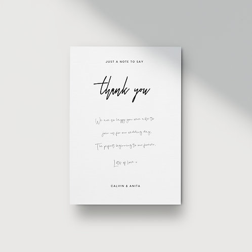Modern Minimalist - Thank You Card