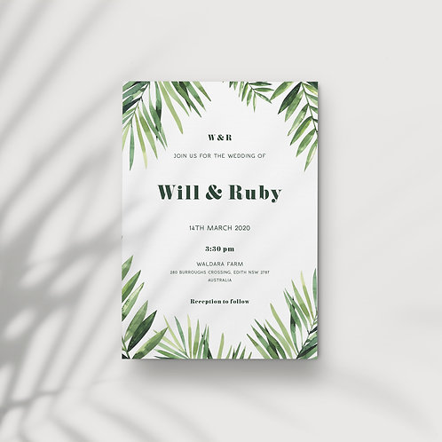 Bold Tropics - Invitations