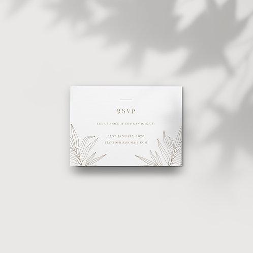 Botanical - RSVP Card