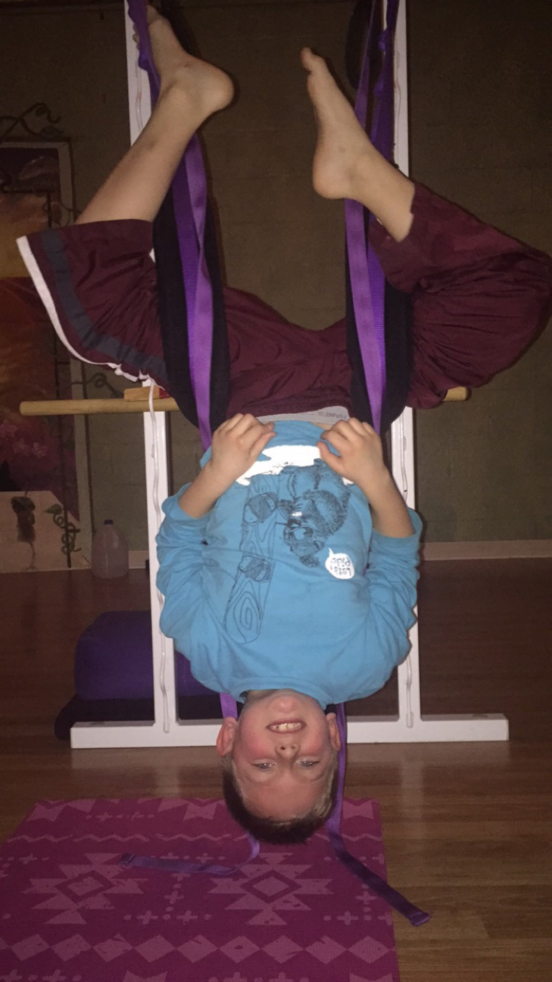 Just hanging around doing some yoga
