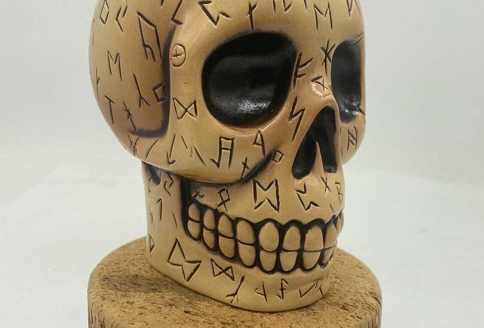 Runed Skull - Bone Glaze