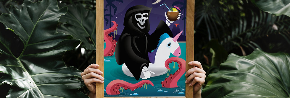 Unicorn Floaty Reaper Print - 11x14