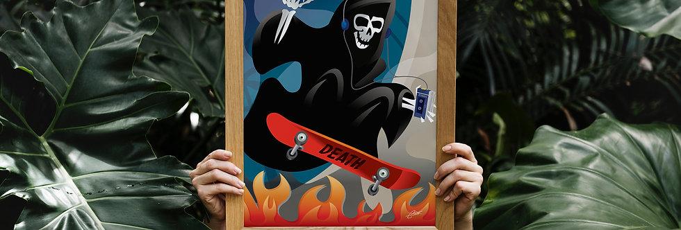 Skating Reaper Print - 11x14
