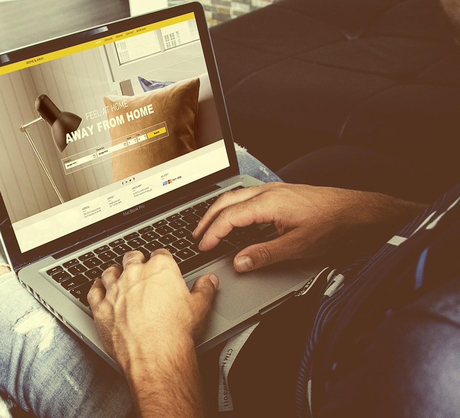 Website design on laptop