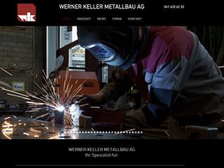 Neue Webseite für Keller Metallbau AG