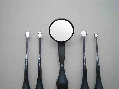 Mikrozrcátko BLACKline MICROflex ultra ovál 3x6 mm drop design
