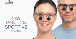 Nové obroučky Panto a Sport v2 - lupové brýle