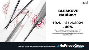 Bleskovky Hu-Friedy - 40% pouze do 21.1.2021