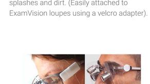 Štíty na lupové brýle ExamVision