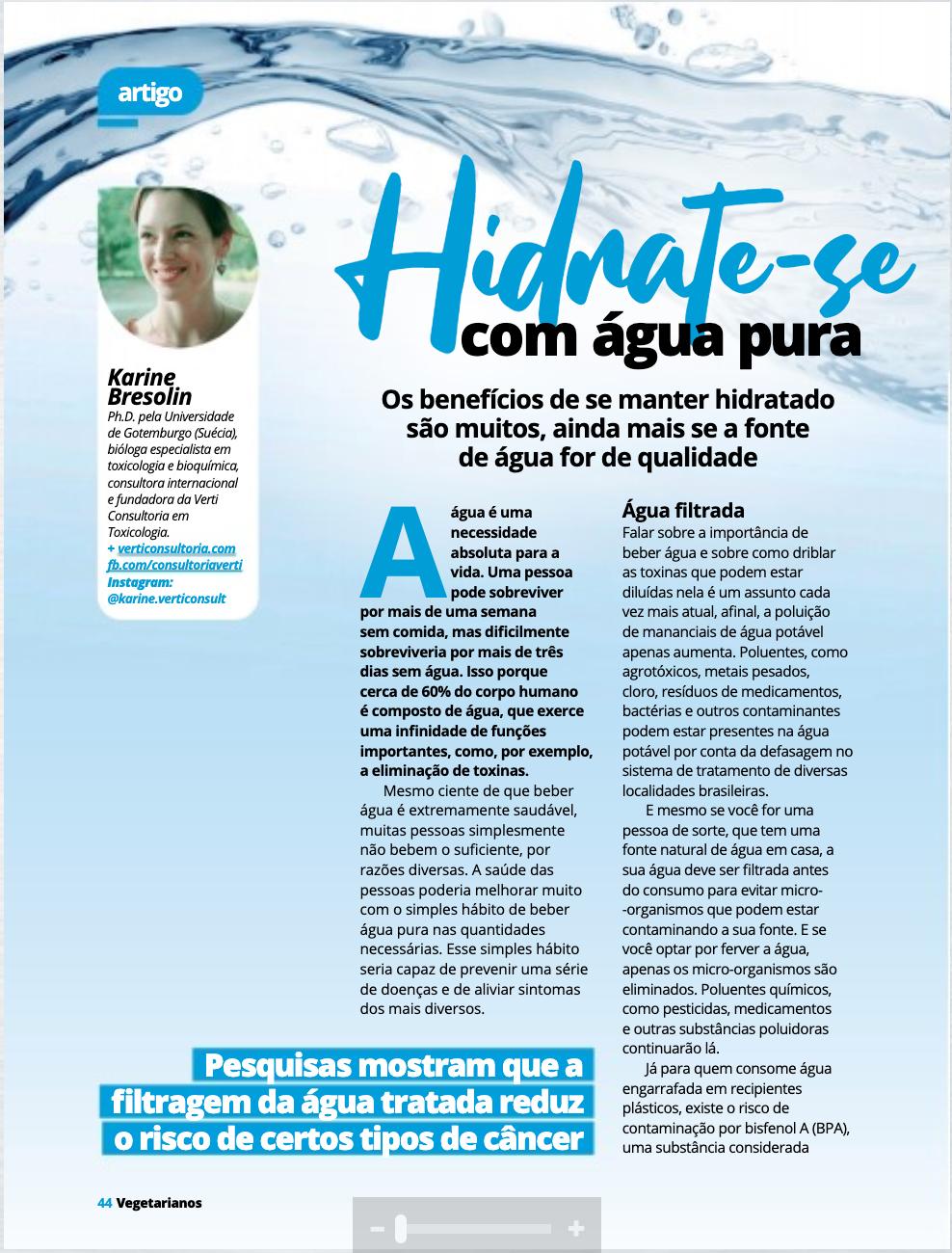 Reportagem publicada na Revista dos Vegetarianos  Abril/2020