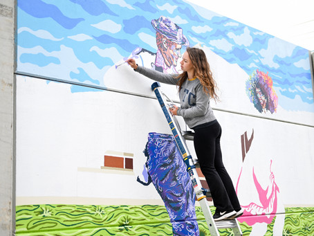 Madison Myers: UTC Student Creates Murals for Chattanooga Community